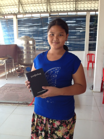 Meanghuen with the Bible she received