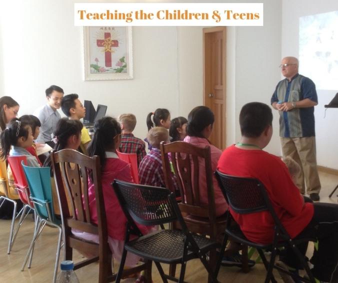 Me teaching children-teens